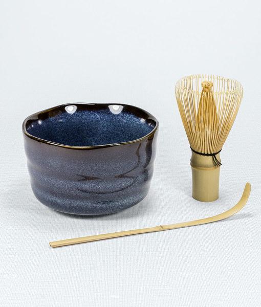 Matcha Set (Schale Blau) 1
