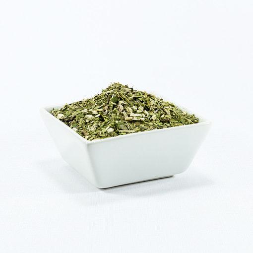 Erva Mate Tee in weißer Schale