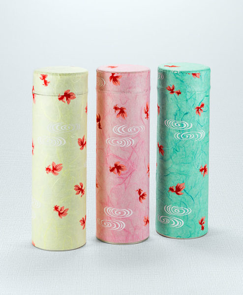 Japanische Teedosen aus Seidenpapier 3er Set