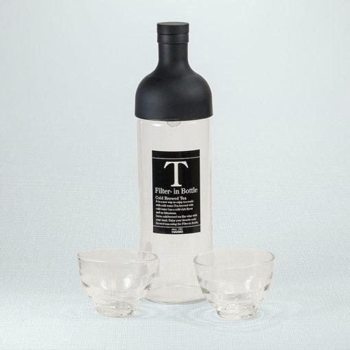 Cold Brew Set Schwarz mit 2 Gläsern