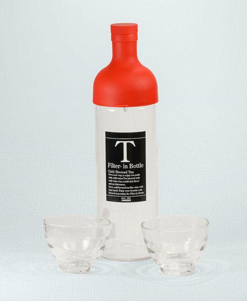 Cold Brew Set Rot mit 2 Gläsern