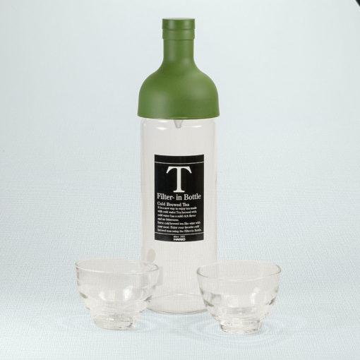 Cold Brew Set Grün mit 2 Gläsern