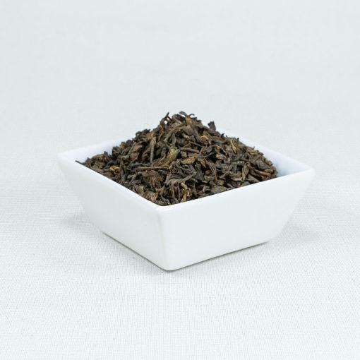 Schwarzer Tee Pu Erh China Bio in weißer Schale