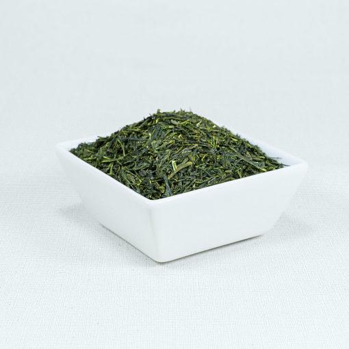 Grüner Tee Kabusecha Warashina Bio in weißer Schale