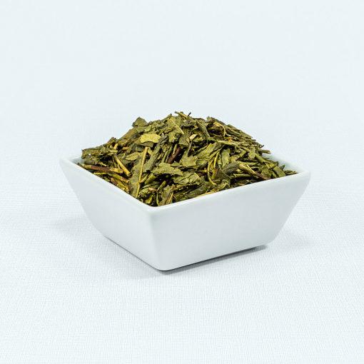 Grüner Tee Morimoto Houjicha Bio in weißer Schale