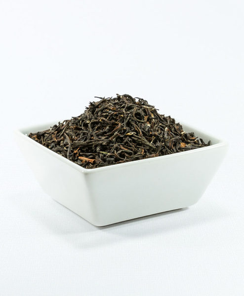 Schwarzer Tee Kirishima Miumori Koucha Bio in weißer Schale
