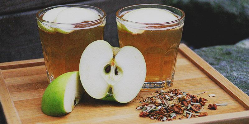 Orange-Ingwer Cocktail mit Apfel von Teerausch Dresden