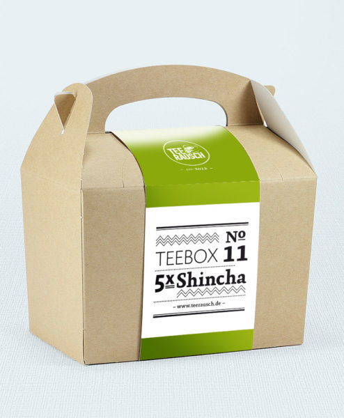 Teebox mit fünf Sorten Shincha Grüntee