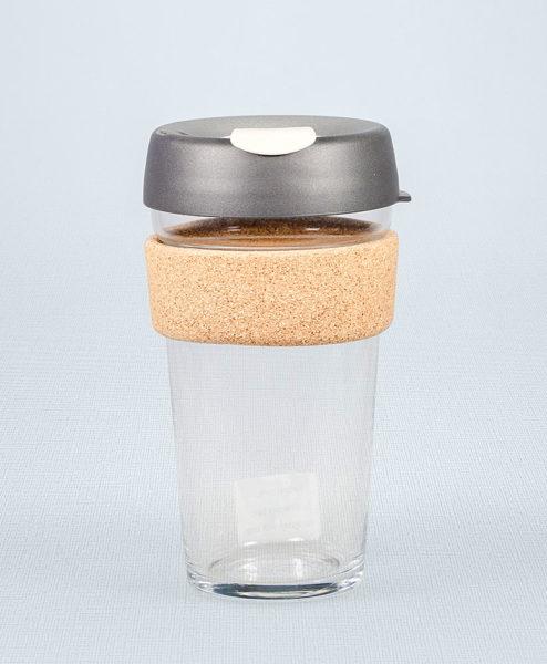 Keep Cup grau mit Korkmanschette