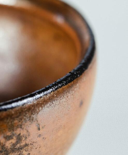 Teeschale rotbraun 210 ml Hendrik Schöne