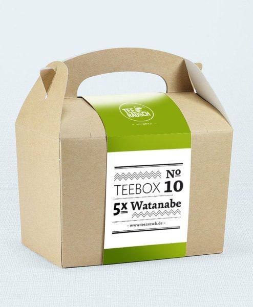 Teebox mit fünf Sorten Watanabe Grüntee